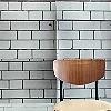 Tapete: Tube Station Tiles, grey