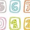 Tapeten: Ziffer - Zahlenbordüre 0-9