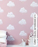 Tapete  - Pastelltöne Cotton Clouds, sandalwood pink