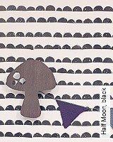 Tapete  - Skandinavisches Design Half Moon, black