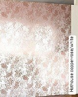 Tapete  - Tapeten in Kupfer und Rotgold Hothouse copper-rose/white