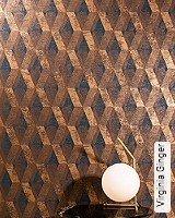 Tapete  - Tapeten in Kupfer und Rotgold Virginia Ginger