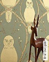 Tapete  - Tapeten Herbst 2013 Briar Owl, gold