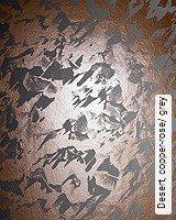 Tapete  - Tapeten in Kupfer und Rotgold Desert, copper-rose/ grey