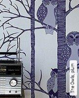 Tapete  - Tapeten Herbst 2013 The Owls, plum