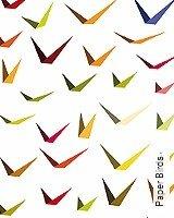 Tapete  - Frühling Paper Birds