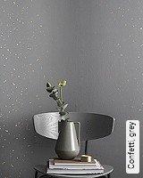 Tapete  - Tapeten in Kupfer und Rotgold Confetti, grey