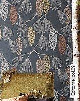 Tapete  - Tapeten in Kupfer und Rotgold Epitome, 09