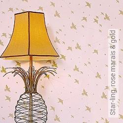 Tapete: Star-ling, rose marais & gold