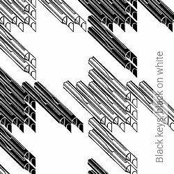Tapete: Black keys, black on white