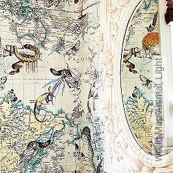 Tapete: World Map Animal, Light