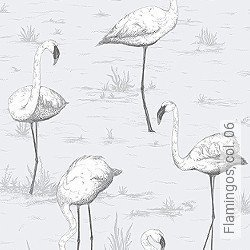 Tapete: Flamingos, col. 06