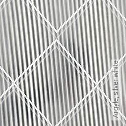 Tapete: Argyle, silver white