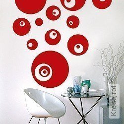 Walltatoo: Kreise, rot