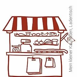 Tapete: Mein kleiner Kaufladen, Ladentisch