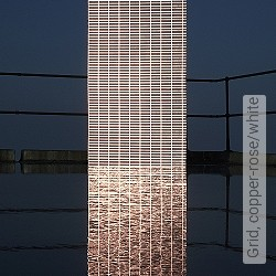 Tapete: Grid, copper-rose/white
