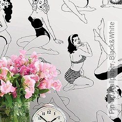 Tapete: Pin-up Wallpaper, Black&White