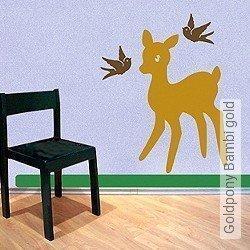 Walltatoo: Goldpony Bambi gold