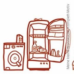 Tapete: Meine kleine Wohnküche, Komplett-Motiv