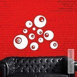 Walltatoo: Kreise, weiß