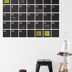 Walltatoo: Calendar, black
