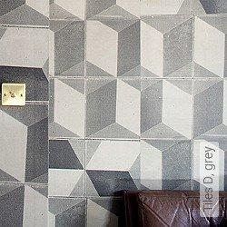 Tapete: Tiles D, grey
