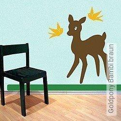 Walltatoo: Goldpony Bambi braun