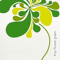 Walltatoo: Pop flower green