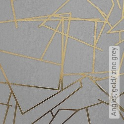 Tapete: Angles, gold/ zinc grey