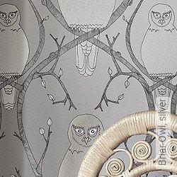 Tapete: Briar Owl, silver