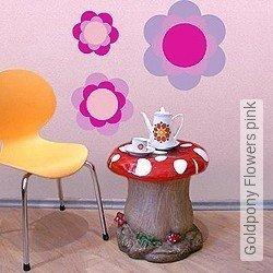 Walltatoo: Goldpony Flowers pink