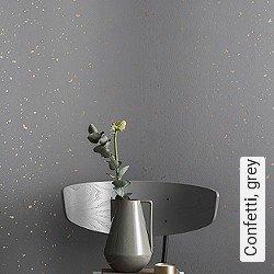 Tapete  - Loft-Tapeten Confetti, grey