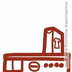 Tapete: Meine kleine Wohnküche, Waschmaschine