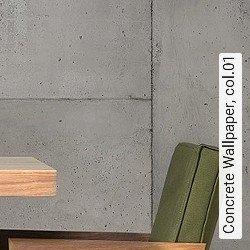 Tapete  - Loft-Tapeten Concrete Wallpaper, 01