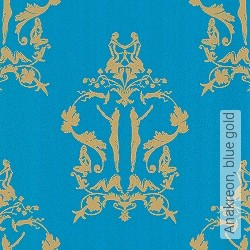 Tapete: Anakreon, blue gold