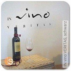 Walltatoo: IN vino VERITAS, schwarz