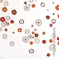 Walltatoo: Poppies 3 couleurs