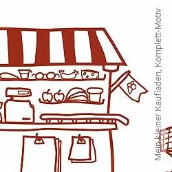 Tapete: Mein kleiner Kaufladen, Komplett-Motiv