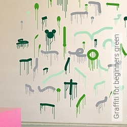 Walltatoo: Graffiti for beginners green