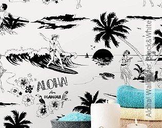 Bild Tapete - Aloha! Wallpaper, Black&White