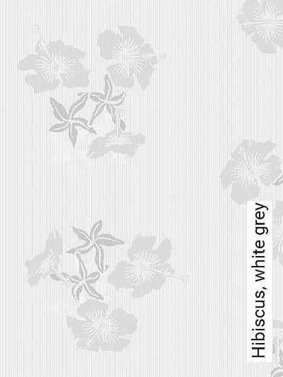 Bild: Tapeten - Hibiscus, white grey