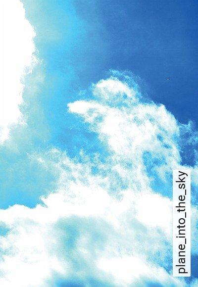 Bild: Tapeten - plane_into_the_sky