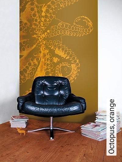 Bild: Tapeten - Octopus, orange