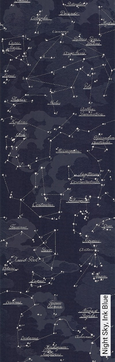 Bild: Tapeten - Night Sky, Ink Blue