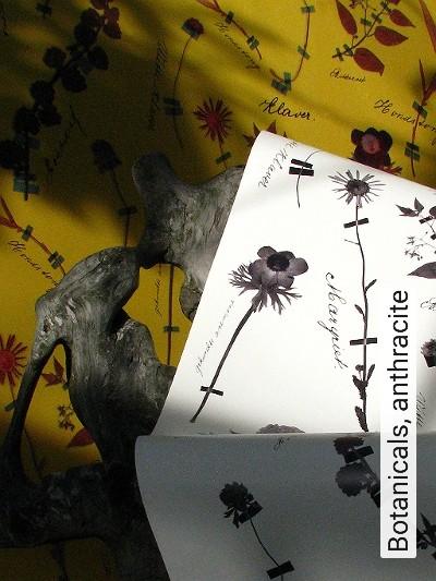 Bild: Tapeten - Botanicals, anthracite
