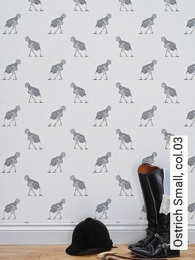 Bild: Tapeten - Ostrich Small, col.03