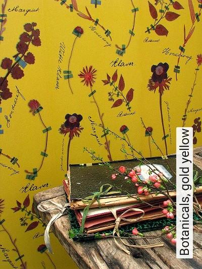 Bild: Tapeten - Botanicals, gold yellow