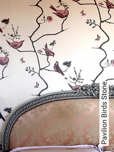 Bild: Tapeten - Pavilion Birds Stone