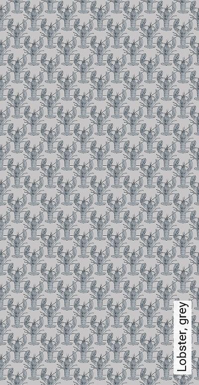 Bild: Tapeten - Lobster, grey