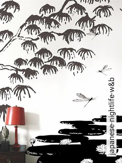 Bild: Tapeten - japanese-nightlife-w&b